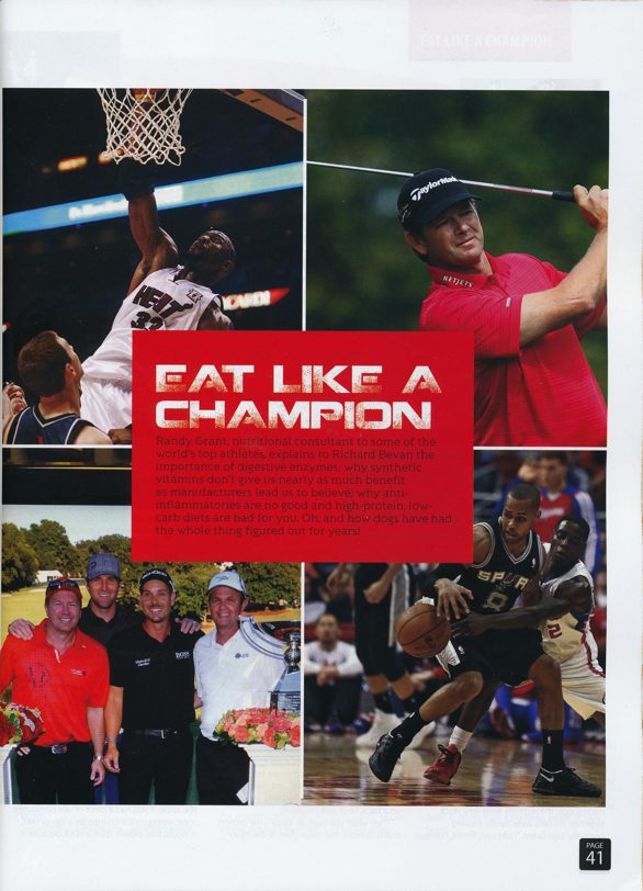 Eat like a champion articles Randy Grant