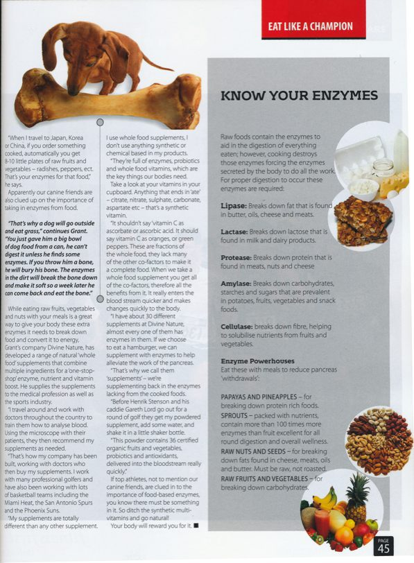 KNow your Enzymes - article Sports Fitness Magazine